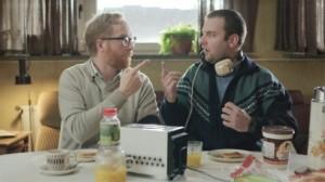Nico Marsman (à gauche) et son frère autiste Rudy.