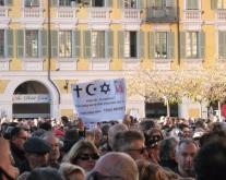 Toutes les religions étaient présentes à Nice pour manifester en mémoire de Charlie Hebdo. (Crédit photo : Skander Farza)