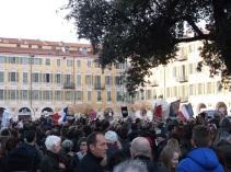 Quelques milliers de personnes étaient présentes à Nice aujourd'hui pour ce rassemblement. (Crédit photo : Skander Farza)