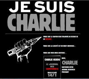 Le message d'espoir affiché par le site de Charlie Hebdo depuis jeudi 8 janvier au soir. Crédit : Charlie Hebdo