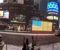 A New York, la 7ème avenue est méconnaissable (crédit: @JeffMacke)