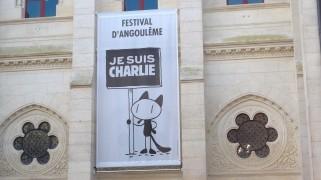 Le Festival international de la bande dessinée d'Angoulême est Charlie. (Crédit photo : Alice Gobaud)