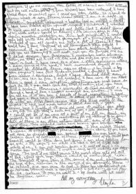 La dernière lettre de Kayla à ses proches, écrite durant sa détention. Sa famille l'a rendue publique le 11 février. (Crédits photo : DR)