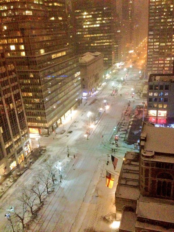 D'habitude bondée, Park Avenue est déserte (crédit: @4lisaguerrero)