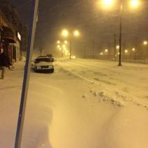 Sous la menace du blizzard, les rues sont désertées (crédit: @BenjamLevy)