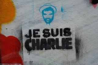"""""""Je suis Charlie"""" écrit sur un mur après les attentats du 7 janvier. Crédits : ABACA / Presse Association Images"""