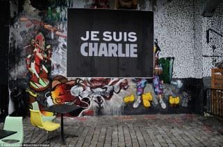 """""""Je suis Charlie"""" à Londres. Crédits : ABACA / Presse Association Images"""
