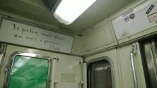 """Stéphane Charbonnier, alias Charb : """"Je préfère mourir debout que vivre à genoux"""" dans le métro, à Paris. Crédits : allcityblog.fr"""