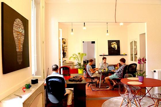 L'espace de coworking des 6 degrés à Cannes. Crédit photo : les 6 degrés