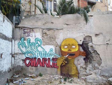 Le brésilien Binho Ribeiro et le français Nok s'unissent pour réaliser cette oeuvre. Crédits : Binho / Nok