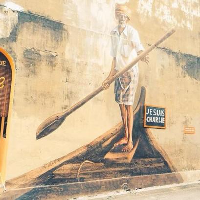 """""""Je suis Charlie"""" est écrit jusqu'en Malaisie. Crédits : busk-magazine.com"""