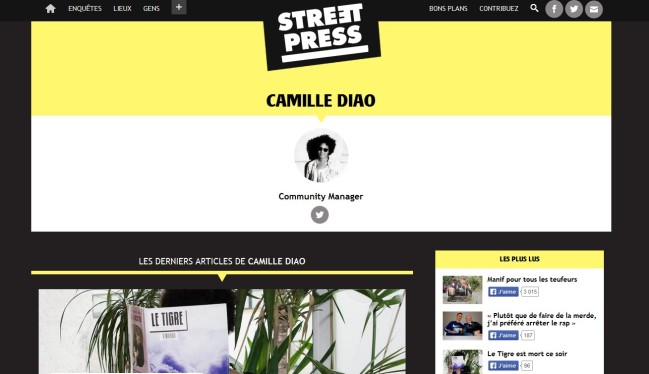 Camille Diao officie sur Streetpress et Radio Nova. Crédit photo : streetpress.com