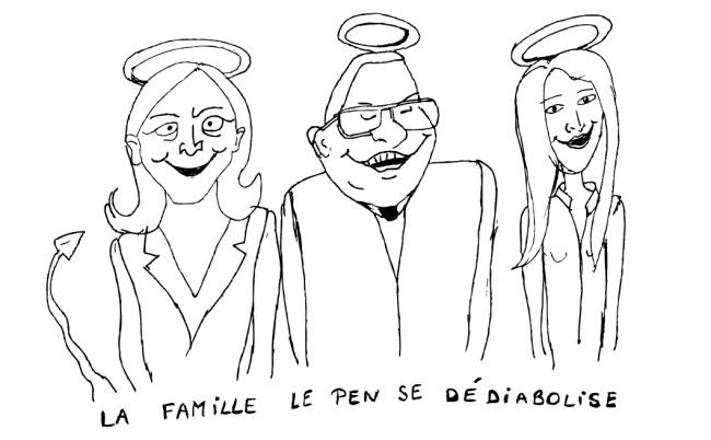 Dessin Camille FN Dédiabolisation