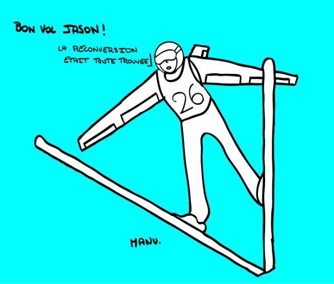 Flying Jason ne veut plus redescendre. Crédit : Emmanuel Durget