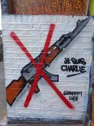 L'artiste Graffiti Life dit non aux armes, à Londres. Crédits : Graffiti Life
