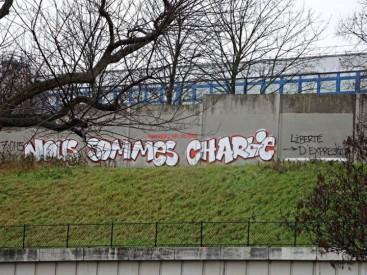 """""""Nous sommes Charlie"""" en hommage à la liberté d'expression. Crédits : graffitiarchiv.org"""
