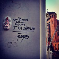 """You'll never kill me because I am Charlie"" par l'artiste français gregos Crédits : gregos"