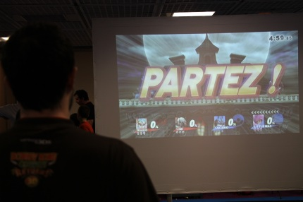 Un tournoi de super smash bros. Crédit : Loïc Masson