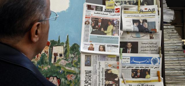 Français, Arabe, Anglais, ... La pluralité s'affiche sur les kiosques de Beyrouth. Crédit AFP.