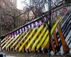 L'artiste Nicholai Khan livre cette impressionnante fresque sur un mur du Bronx de New-York. Crédits : Nicholai Khan