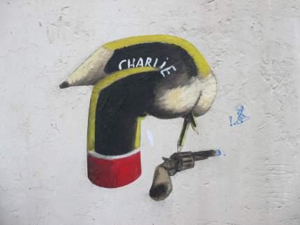 Graffiti de l'artiste français Philippe Herard, place Maurice Chevalier à Paris Crédits : Philippe Herard