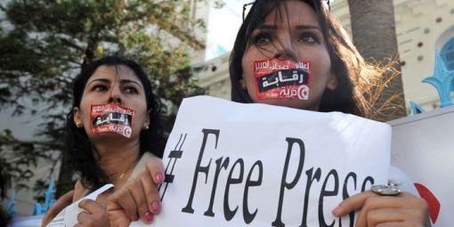 Manifestion en faveur de la liberté de la presse le 17 octobre 2012 à Tunis