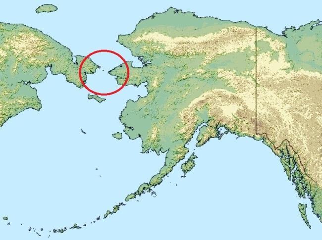 Le détroit de Bering entre la Russie et l'Alaska. (Crédit photo: D.R.)