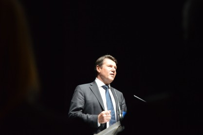 Christian Estrosi, député-maire UMP de Nice. Crédit: Matthias Somm