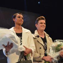 Les deux gagnants du concours Enjoy Models. Crédit Photo : Cyrille Ardaud