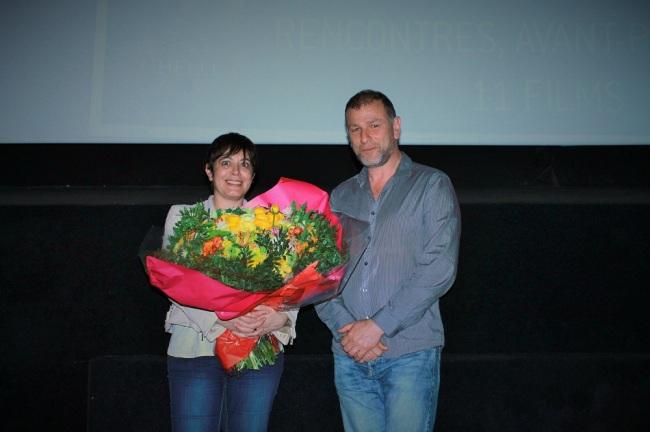 Le réalisateur et la scénariste à la fin de la projection d'Une bouteille à la mer. (Crédit photo: Guillaume Soudat)