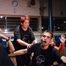 Les comédiens en pleine action. (Crédit photo : Matthias Somm).