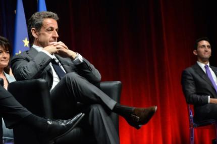 Nicolas Sarkozy évoluait en terrain conquis, mercredi 22 avril. Crédit photo: Matthias Somm
