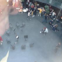 L'orchestre, cette fois-ci déserté par les grévistes. (Crédit photo : @arnaud_jamin sur Twitter)