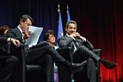 Nicolas Sarkozy était de passage à Nice pour soutenir la candidature de Christian Estrosi en PACA. Crédit: Matthias Somm