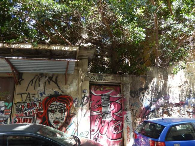 Les rues d'Exarchia, le charme de la désolation (crédit photo : Chantal Flament)