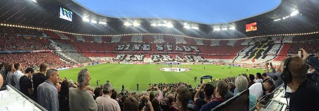 L'animation visuelle des supporters du Bayern. Crédit photo : maxifoot.fr