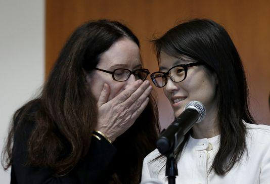 Ellen Pao et son avocate durant le procès contre Kleiner Perkins. (Crédit photo: AP/Jeff Chiu)