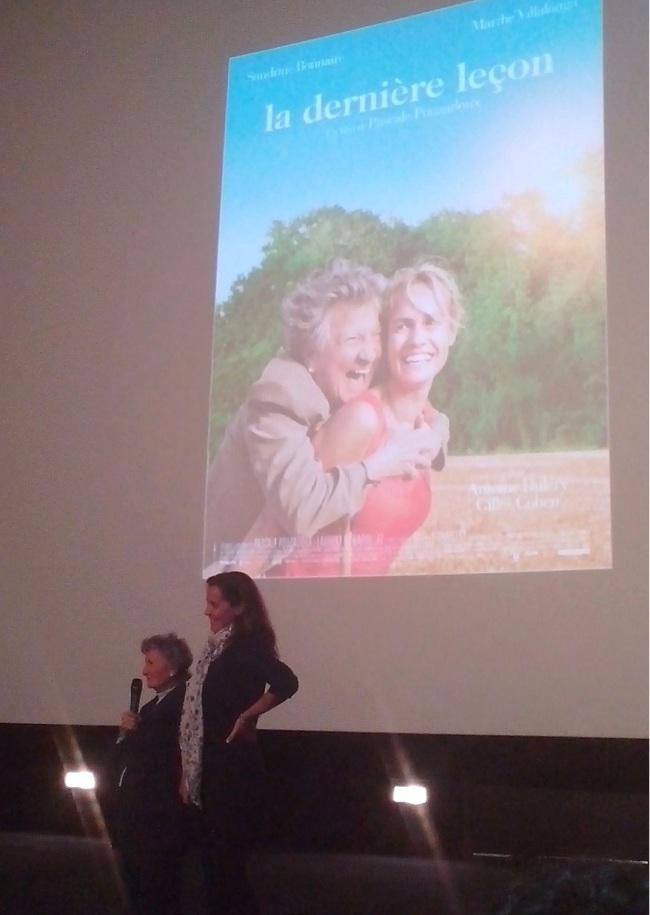 Marthe Villalonga et Pascale Pouzadoux ont présenté leur film en avant-première à Strasbourg (Crédit photo: Emilie Unternehr)