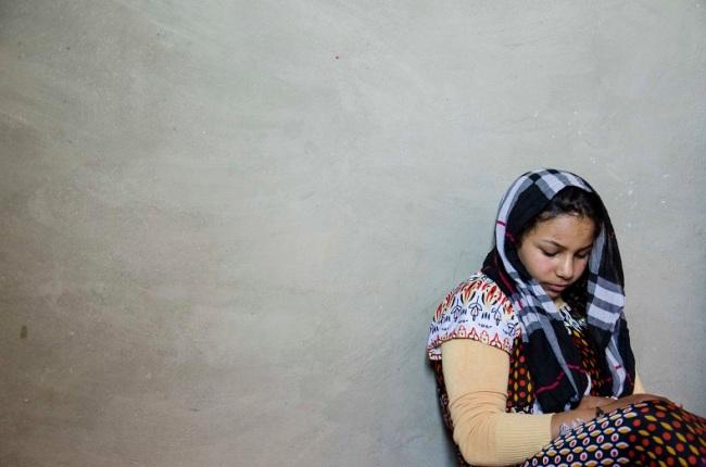 « Une des filles de Nizar. Elle travaille 20 jours par mois, pour quatre dinars jordaniens par jour ». (Photo : Matthias Somm)