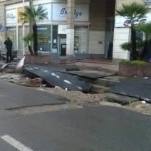 Les dégâts sont considérables ici à République (Crédit Photo : Solène Barlot)
