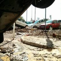 Les dégâts sont considérables ici au Square Mistral (Crédit Photo : Adrien de Volontat)