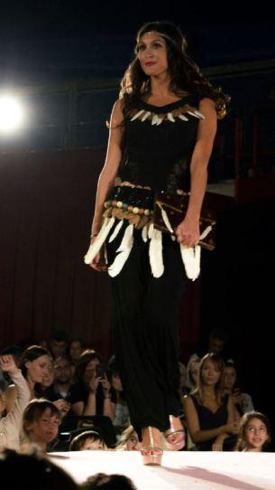 Le Salon était l'occasion d'un défilé de robes en chocolat réalisées par des créateurs et chocolatiers. (Crédit photo : Cyrille Ardaud)