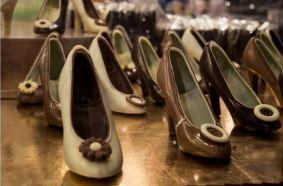 Des chaussures en chocolat de Chocopassion (Crédit photo : Cyrille Ardaud)