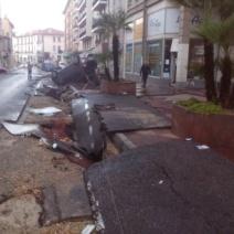 Les dégâts sont considérables ici à République (Crédit Photo : Emilie Unternehr)