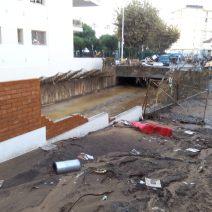 Les dégâts sont considérables ici près du boulevard du Midi (Crédit Photo : Cyrille Ardaud)