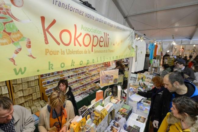 L'association Kokopelli a tenu un stand à l'espace citoyen durant les trois jours du Festival de Mouans-Sartoux. (Crédit photo : kokopelli-semences.fr)