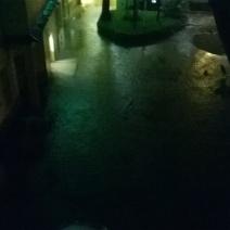 Les dégâts sont considérables ici au Collège International de Cannes (Crédit Photo : Cassandra Rolland)