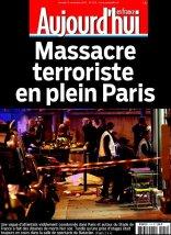 Aujourd'hui en France parle d'un « massacre terroriste en plein Paris » (Crédit : aujourdhui-en-france.fr)