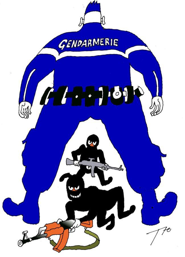Dessin de Serguei Tiounine, illustrateur russe
