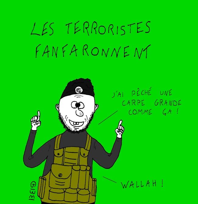 dessin terroriste GBB